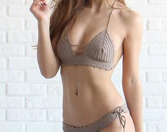 Crochet Swimsuit - Brazilian Crochet Swim suit - Crocheted Bikini - Handmade Crochet Bikini Set
