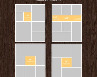 16x20 Photo Storyboard Templates - Photo Collage Template - PSD Template - Resize to 8x10 - For Photographers - Instant Download - S210