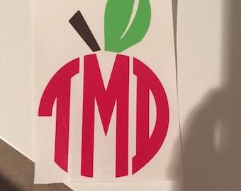 Apple Teacher Monogram