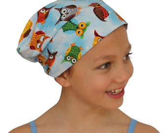Mia Children's Head Cover, Girl's Cancer Headwear, Chemo Scarf, Alopecia Hat, Head Wrap, Cancer Gift for Hair Loss