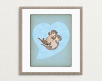 Otterly Lovely -  8x10 Archival Art Print