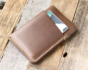 Leather Card Holder Leather Card Wallet Minimalistic Horween Leather Wallet Chromexcel Wallet Slim Wallet Mens Womens Card Case by Gruffwood