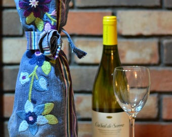 Upcycled Wine Bottle Gift Bag