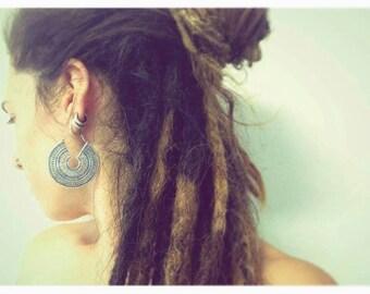 Silver earrings. Tribal earrings ethnic style. Boho earrings.