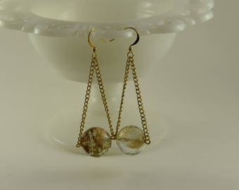 Earrings Golden Ball
