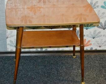 Vintage coffee table rockabilly wood 50's