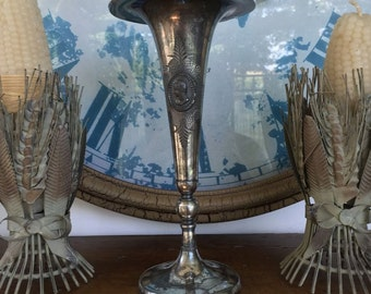 Victorian Silverplate Compote Rogers Smith & Company New Haven CT Renaissance Revival Women Heads