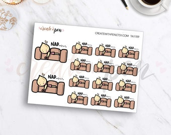 TA09 | Tinta | NAP on Couch | Planner Stickers