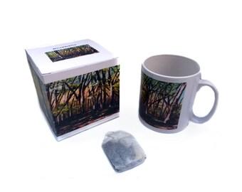 Art mug, Gift Mug  Bluebells painting by Lydia Dawson Artwork