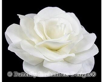 Ivory Gwyneth Gardenia Bridal Hair Flower Clip