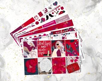 Merlot Weekly Kit for Erin Condren and Happy Planners