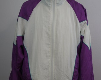 Vintage USA Olympic Full Zip Windbreaker Jacket Size Large