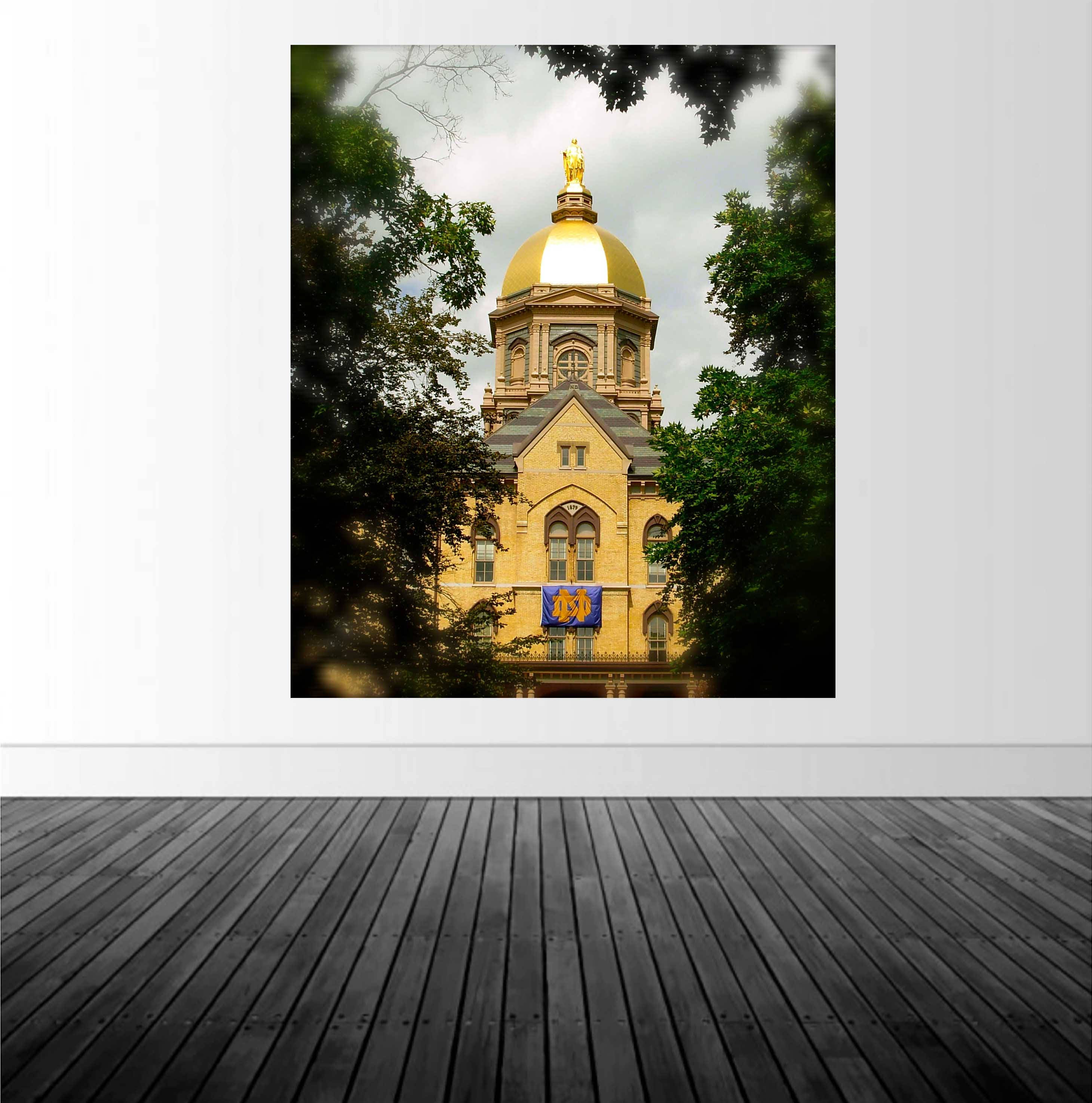 Notre Dame Home Decor: Notre Dame Decal, University, Decal, Golden Dome Decal