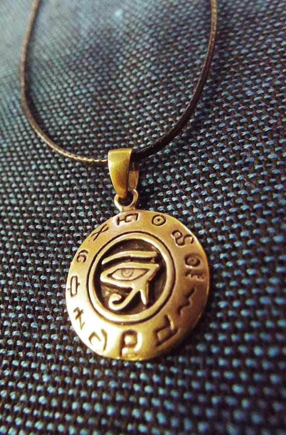 Eye of horus eye of ra pendant ancient egyptian handmade aloadofball Images