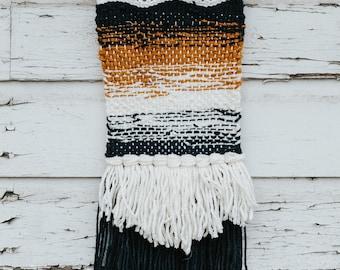 Orange & Navy Blue Gradient Woven Tapestry