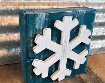 Rustic Snowflake Sign Rustic Wood Decor Farmhouse Style Halloween Decor