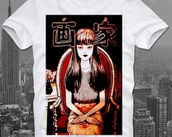 Tomie Junji Ito Uzumaki Japan Japanese Anime Manga Horror Guro Junji Ito T Shirt Tee
