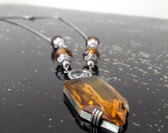1930s Art Deco necklace Czech Glass vintage