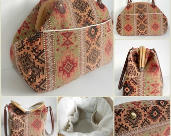 The Companion Carpet Bag PDF Sewing pattern by Mrs H - January Bag of the Month Club