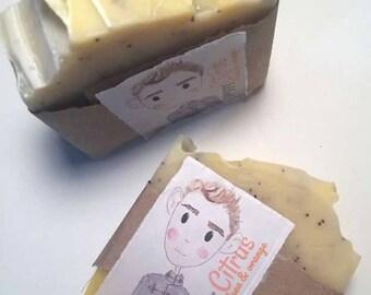 Poppy Citrus Cold Process Vegan Soap