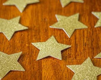 Glitter Gold Star Confetti
