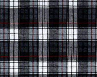 Jersey Plaid black and white, cotton / polyester