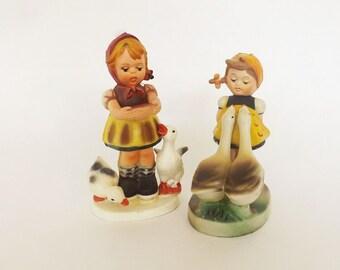 2 Vintage Figurine Set, Vintage Decor, Girls Room Decor, Girls Bedroom Decor, Vintage Collectible, Home Decor, Accessories