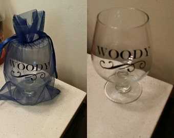 Custom brandy glass