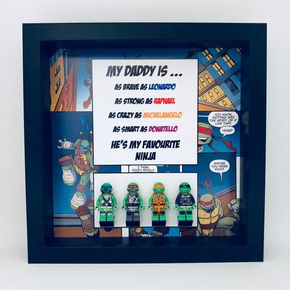 Teenage Mutant Ninja Turtles 4PC Dad Minifigure Frame