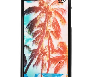 NEW iPhone 7/7 + Case, Rainbow Palms HI, Best Seller, Hawaii, Aloha, Beach, Palms, Rainbow, Tropical, Avail. with Black or White case color