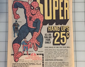 1977 Super Hero wall art from Youth Opportunity Sales Club
