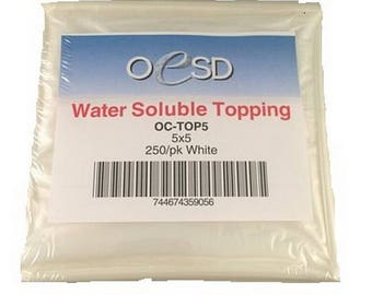 Water Soluble Topping 5 x 5 250/pk - OC-TOP5
