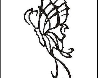Butterfly embroidery design 4x4