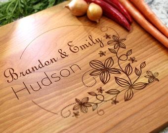 Personalized Cutting Board - Engraved Cutting Board, Custom Cutting Board, Wedding Gift, Housewarming Gift, Anniversary Gift W-002 GB