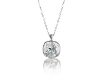 Classic Crystal 12mm Cushion Pendant
