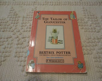 The Tailor Of Gloucester By Beatrix Potter Vintage Children's Story Book
