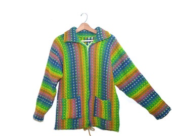 Hippy Sweater Hippie Sweater Boho Sweater Bohemian Sweater Ethnic Sweater Multi Colored Festival Sweater