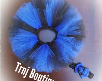 Carolina Blue and Back Tutu Set