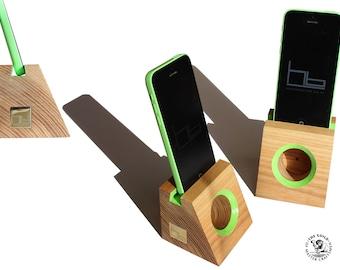 Acoustic speaker smart phone ,docking station wooden phone dock stand i phone 6, i pod ,cell phone stand, i phone 7 plus,i phone 8 ,i phoneX