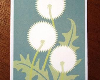Dandelion Note Card