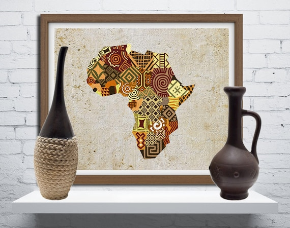 wall african home art mask and in made decor products child mother africa
