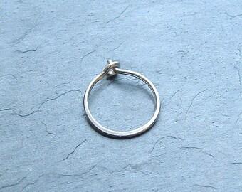 Silver Hoop Earrings, Small Sterling Silver Hoops, minimalist Silver jewelry gift for her, boyfriend gift, girlfriend gift