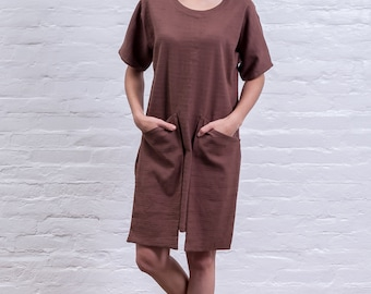 Linen Dress with front pockets