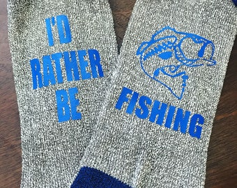 Id rather be bass fishing socks