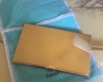 Vintage Tiffany Sterling Silver Business Or Credit Card Case