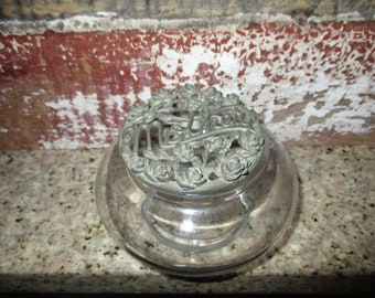 Spoontiques Potpourri Jar With Pewter Vented Top - Mother with Roses