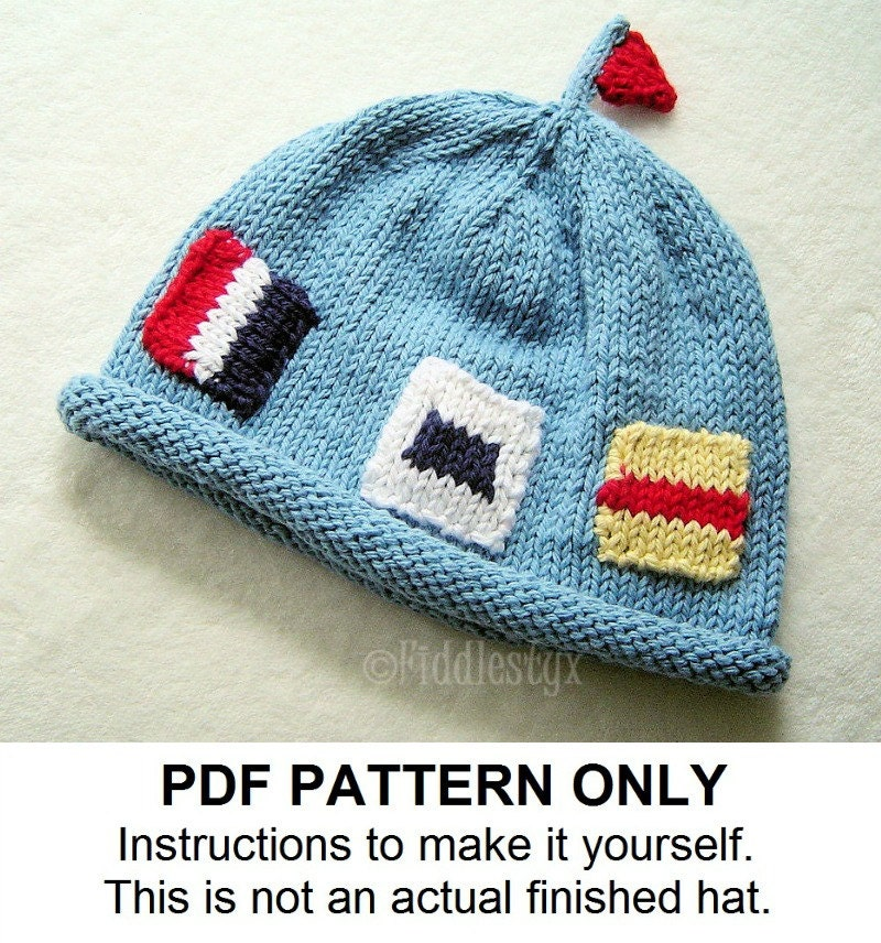 Knitting Pattern - Nautical Flag Hat Pattern - the JACQUES beanie ...