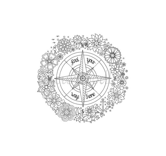 compass coloring pages - photo#24