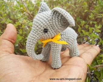 Crochet Elephant Stuff Animal -  Miniature Elephant Amigurumi - Made To Order