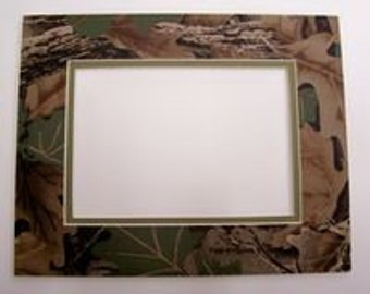 Hand Made Camouflage Picture Mat for 11 x 14 frame